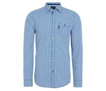 Freizeithemd, Baumwolle, Button-Down-Kragen, Blau