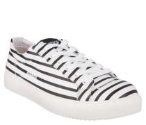 Sneaker, Streifen, Marken-Schriftzug, Wechselfußbett, Weiß