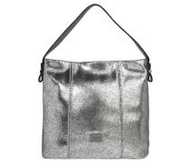 """Handtasche """"Carrara"""", Lederoptik, Metallic-Effekt, Silber"""