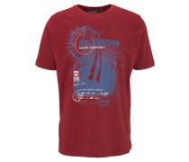 T-Shirt, Rundhals, Front-Print, Baumwolle