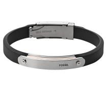 Armband Kunstleder schwarz JF01650998