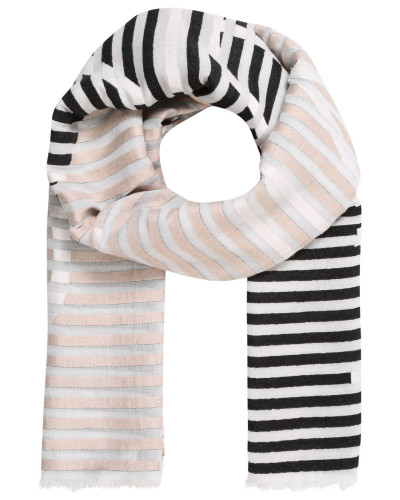Schal, gestreift, Fransen, Logo