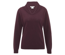Pullover, Wolle, Kragen, für Damen, Rot