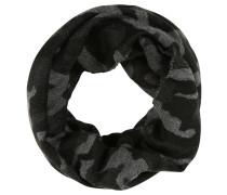 Schlauchschal, Camouflage-Muster, Fransenkanten