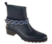 Boots. Gummi, Riemen-Detail, Blockabsatz
