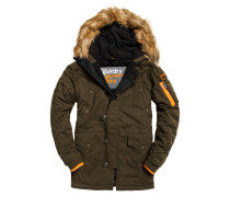 Parka 3D Winterjacke, Slim Fit,army, Grün