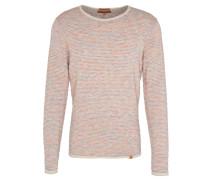 Pullover, gestreift, Flammgarn-Effekt