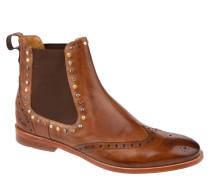 "Chelsea Boots ""Amelie 5"", Leder, Nieten, Lyral-Lochung, Braun"
