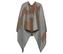 Poncho, offene Front, geometrisches Muster
