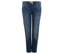 "Jeans ""Liv"", Boyfriend Fit, Stickereien"