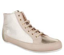 """Sneaker """"Fizz"""", Metallic-Look, Reptilien-Optik, Leder, Reißverschluss, Rosa"""