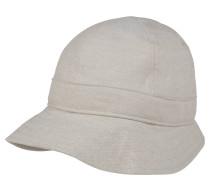 Hut, aus reinem Leinen, Ton-in-Ton-Nähte