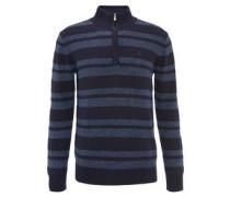 Pullover, Reißverschluss, Streifen, Baumwolle