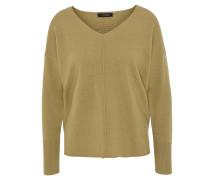 Pullover, meliert, V-Ausschnitt, Bündchen, Wolle, Kaschmir-Anteil, Gelb