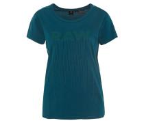 T-Shirt, Logo-Print, Stickerei-Details, Grün