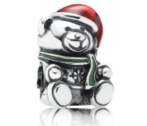 Charm Weihnachts-Teddy  mit Emaille 791391ENMX