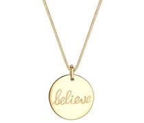 Halskette Believe-schriftzug Statement 925 Sterling Silber