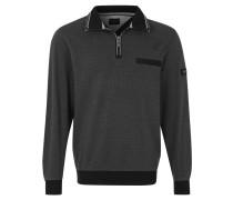 Sweatshirt, Troyerkragen, Rippbündchen, Grau