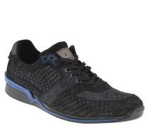 Sneaker, Wildleder, gepunktet, herausnehmbare Sohle, Blau