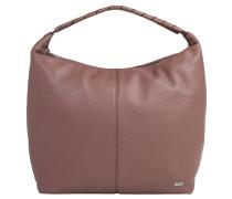 Handtasche, Leder, Marken-Emblem, Braun