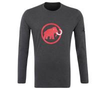 Langarmshirt, Print, reine Bio-Baumwolle, für Herren, Grau
