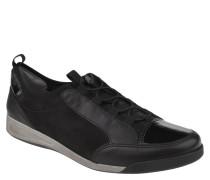 Sneaker, Glanz-Optik, Schwarz