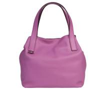 "Handtasche ""Mila"", Leder, Beutelform, Lila"