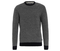 """Pullover """"Calvay"""", Wolle, Strick-Muster, Blau"""