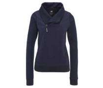 Sweatshirt, glänzend, Schalkragen, Reißverschluss