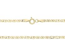 Halskette, 375er Gold, Omega-Form