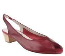 Sandaletten, Leder, Ziernähte, Elastik-Riemen, Rot