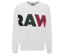 Sweatshirt, Baumwoll-Mix, Front-Print, Ripp-Saum