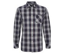 Freizeithemd, Regular Fit, Baumwolle, Brusttasche, Kent-Kragen, Blau