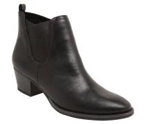 Ankle-Boots, Lederimitat, gefüttert, Schwarz