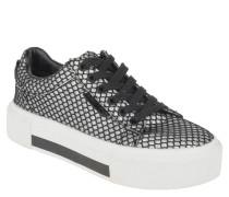Sneaker low, geometrische Glitzer-Musterung, Plateau