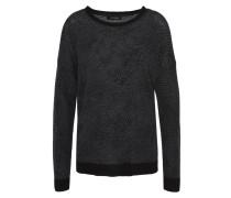 Pullover, gemustert, Merinowolle, Kaschmir-Anteil, Bündchen, Grau