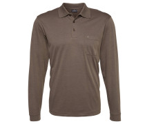 Poloshirt, Pima-Baumwolle, aufgesetzte Brusttasche, Braun