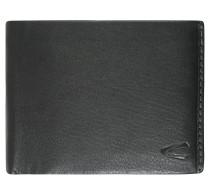Geldbörse, Echtleder, Logo-Prägung, Schwarz