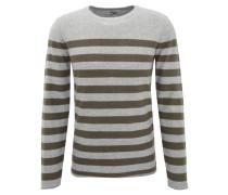 Pullover, Baumwolle, Streifenmuster, Rollsaum
