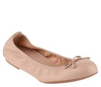 Ballerinas, Leder, Schleifen-Applikation, uni