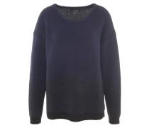 Pullover, Metallic-Fasern, Wolle-Anteil, Bündchen, Blau