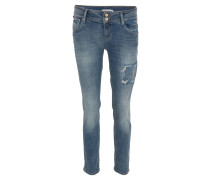 "Jeans ""Mia"", Modern Fit, Used-Look, Blau"