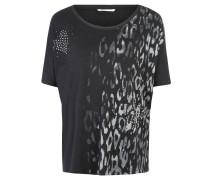 """T-Shirt """"Evita"""", Oversized, Print, Schmucksteine, Schwarz"""