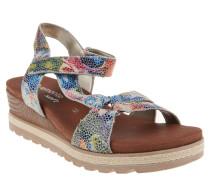 Sandaletten, bunt, Leder-Innensohle, Mehrfarbig