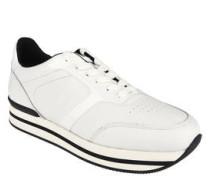 Sneaker, Leder, Lack-Details, gepolsterte Innensohle
