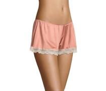 Shorts, Stretch, Spitzen-Bordüre, Rosa