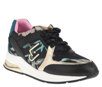 Sneaker, Materialmix, herausnehmbare Sohle, florales Muster