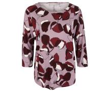 Shirt, 3/4-Arm, Allover-Print, floral, Rosa