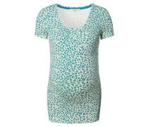 "Still-Shirt ""Bliss"", Animal-Print, Blau"