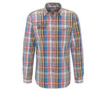 Trachtenhemd, Karo-Muster, Brusttasche, Mehrfarbig